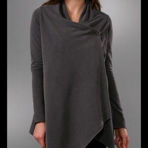 Splendid cardigan wrap single button sweatshirt